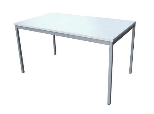 Büro-Schreibtisch (Stahl) LxB: 120x80 cm, lichtgrau, Marke: Szagato (Büroschreibtisch, Arbeitstisch, Computertisch, Bürotisch, Druckertisch)