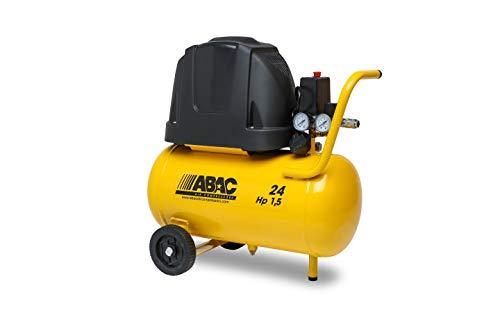 ABAC POLE POSITION B15 Compresor de aire de línea base, 24 L, 1,5 HP, 5,7 CFM, 8 bar, sin aceite