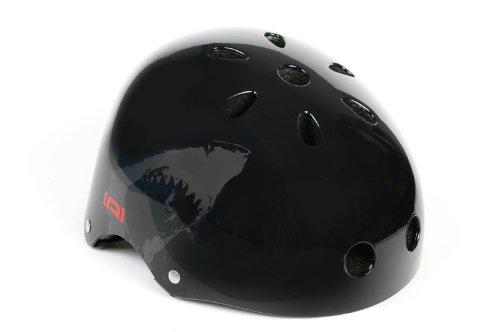 ADD ONE Erwachsene BMX Helm, Schwarz/Rot, 52-57 cm