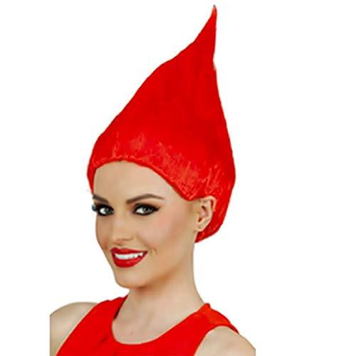 Rood - trol pruik - accessoires - vermomming - volwassenen - kinderen - unisex - halloween - carnaval