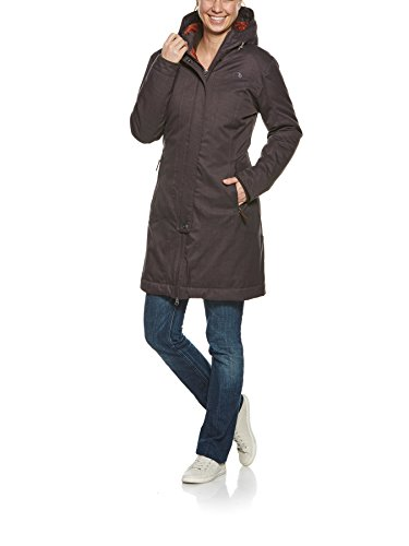 Tatonka Damen Floy Mantel, Chestnut Brown, 46