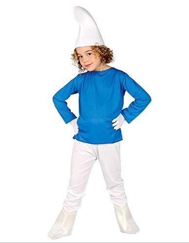 Guirca 81555 - Enanito Azul Infantil Talla 7-9 Años