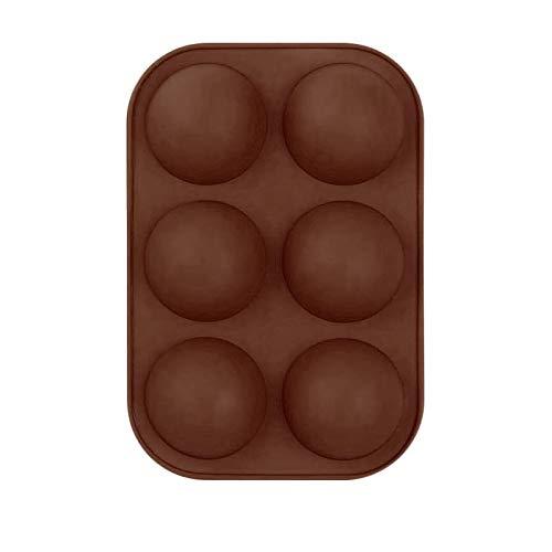 Stampo in silicone semisfera medio, stampo da forno per fare cioccolato, torta, gelatina, cupola M^ousse,per pallina di cioccolato,torta,gelatina,budino brown1