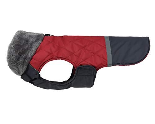 Vinnykud Abrigo reflectante para perros, chaqueta de peluche, chaqueta reversible para invierno, resistente al agua, cortavientos, chaqueta cálida para perros pequeños, medianos y grandes.