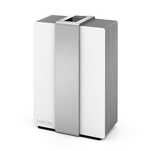 Stadler Form Luftwäscher Robert, 2 in 1: Luftbefeuchter & Luftreiniger, für Allergiker geeignet, silber