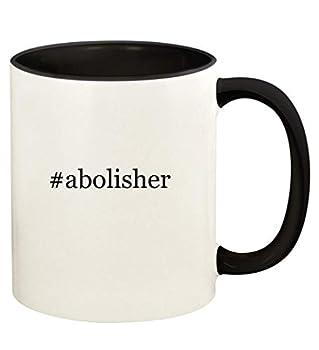 #abolisher - 11oz Hashtag Ceramic Colored Handle and Inside Coffee Mug Cup Black