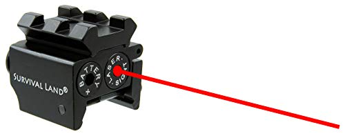 Survival Land LS-100 Red Laser Red Dot Sight - Waterproof Military Grade Low Profile & Compact with 20mm Rail Mount