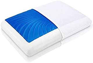 ViscoSoft Hypoallergenic Standard Memory Foam Arctic Gel Pillow with Cooling Gel and Removable Cover