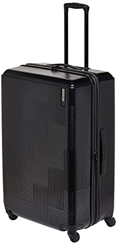 American Tourister Stratum XLT Expandable Hardside Luggage with Spinner Wheels, Jet Black, 3-Piece Set (20/24/28)