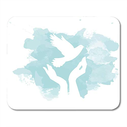AOHOT Mauspads Dove of Peace Flying From Open Hands Symbol Purity and Freedom Holidays Special Occasions Mouse pad Mats 9.5