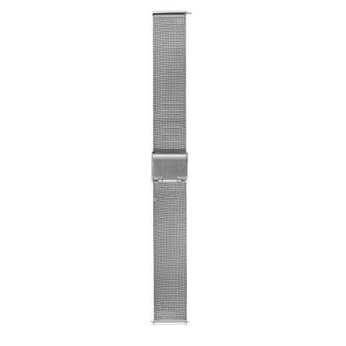 Morellato Bracelet de Montre Unisex, Collection Easy Click, Mod. Estia, en Maille milanaise en Acier - A02X0549010
