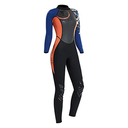 CUTICATE Full Body Dive Wetsuit Sports Rash Guard for Men Women, UV Protection Long Sleeve One Piece Swimwear for Snorkeling Sailing Jetski Canoe Swimming - L