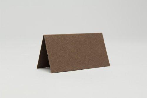 50 x Chocolade Bruin Mat Plaats Kaarten