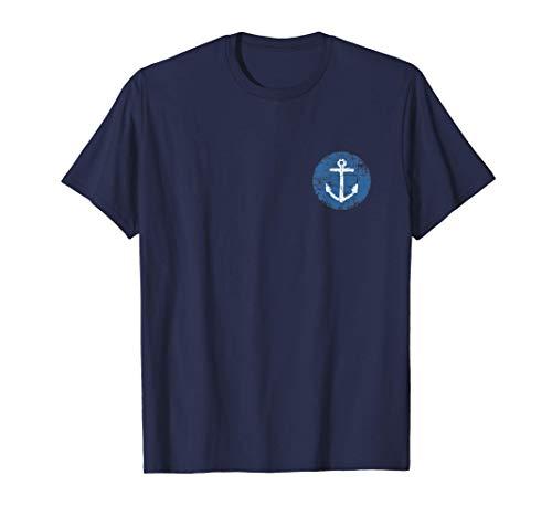 Anker Schild (Vintage Blau) Boot & Segel T-Shirt