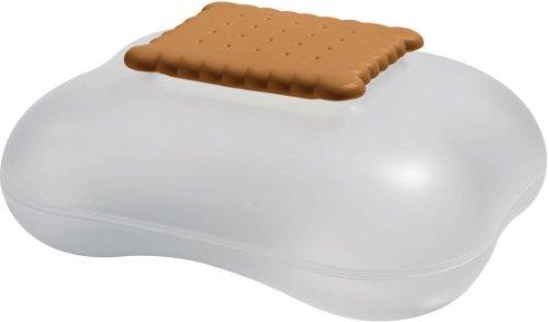 Alessi Mary Biscuit ASG07 I - Design Keksdose mit Deckel, Thermoplastisches Harz, Eis
