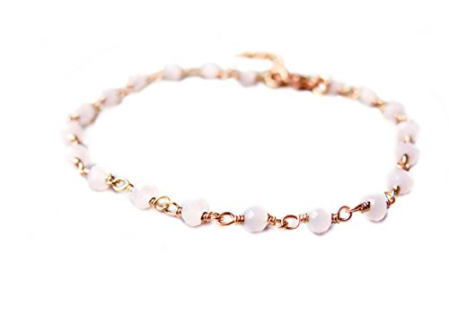 Rosefarbenes Armband mit Rosenquarz