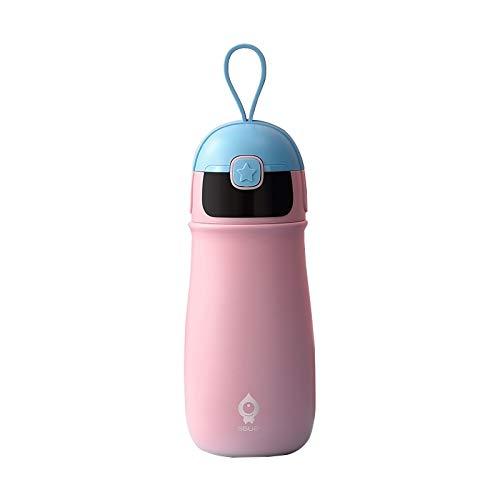 N / A Vacío Termoses Copas SGUAI portátiles Niños térmica Copa Inteligente de Voz Botella de Agua Recordatorio de vacío (Rosa) (Color : Pink)