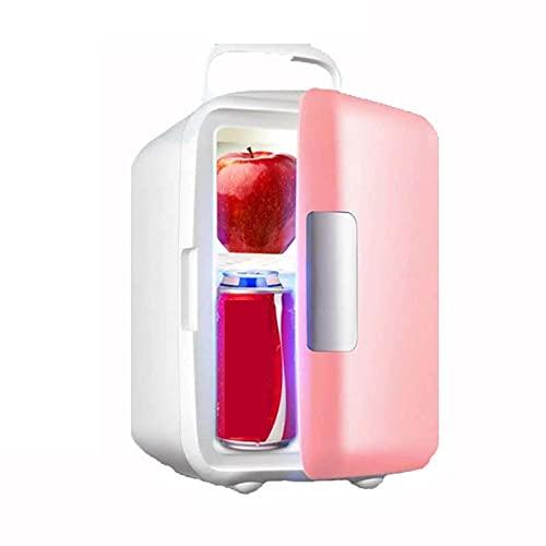 Mini Nevera 4 litros,nevera pequeña,Mini refrigerador portátil,DC12V/AC220V,para el Cuidado de la Piel, Almacenamiento de Maquillaje,Rosado