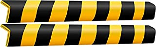 Boing Safety | Corner Guard Strips | Aluminum Reinforced | Black/Yellow/Reflective | 2-Pack