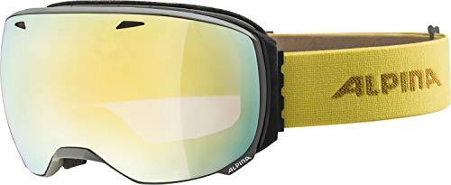 ALPINA BIG HORN Skibrille, Unisex– Erwachsene, grey-curry, one size