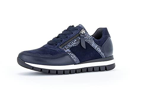 Gabor Donna Sneaker, Signora Basso,Soletta Removibile,Scarpe da Strada,Scarpe Allacciate,Scarpe Sportive,Tempo Libero,Marine/Midnight,40 EU / 6.5 UK
