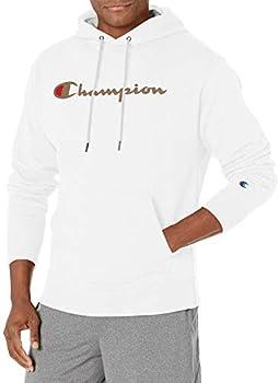 Champion Men's Script Logo Powerblend Fleece Pullover Hoodie