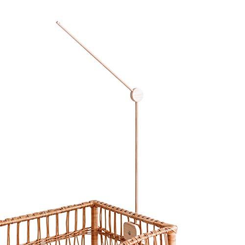 Soporte para cuna – Brazo de madera para cuna – Móviles de cuna de madera de fresno – Muebles de guardería de bebés