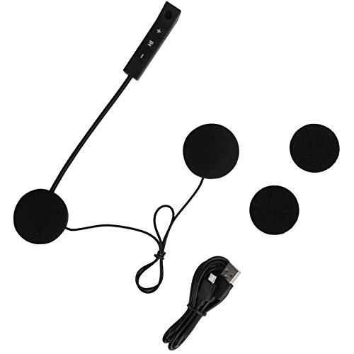 Dpofirs Auriculares Bluetooth para Motocicleta, Auriculares estéreo con reducción de Ruido Bluetooth para Casco, Auriculares para Casco con Bluetooth 4.0 para Motocicleta con micrófono