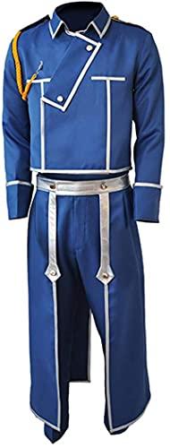 6 piezas Anime Fullmetal Alchemist Roy Mustang Cosplay Disfraz Halloween Carnaval Medieval Caballero Academia Uniform Windbreaker traje completo de alta calidad XXL Female 6pcs/Set