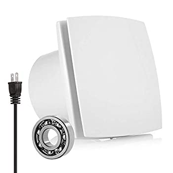 Exhaust Fan Extractor HG POWER Ultra Silent 6 Inch Home Ventilation Fan Bathroom Garage Moisture Exhaust Fan 150mm - Strong Exhaust for Kitchen/Bathroom/Bedroom/Office   Ceiling and Wall Mount  -A