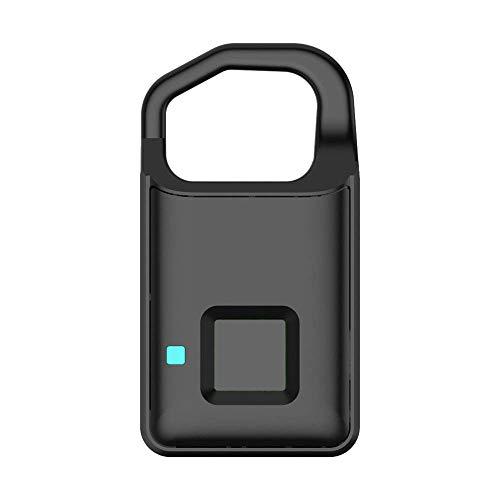 KEKEYANG Led Light Intelligent Fingerprint Padlock Suitable for House Door, Suitcase, Backpack, Gym, Bike, Office, Support USB Charging Outdoor