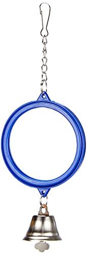 Arquivet Espejo Azul con Campana para pájaros - 7,5 x 11 cm - Accesorios para jaulas - Juguetes para Canarios, agapornis, periquitos, Loros - Entretenimiento para pájaros