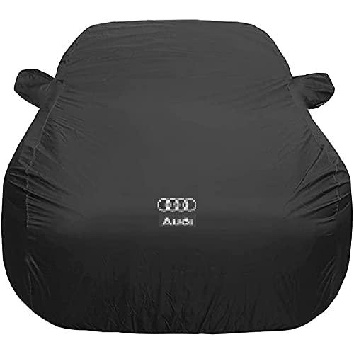 YMYGCC Cubierta del Coche con el Logo del Coche para Audi A4 Cabrio, Anti-UV Transpirable Resistente al Viento, Cubierta para Coche Exterior, Garaje Coche Exterior