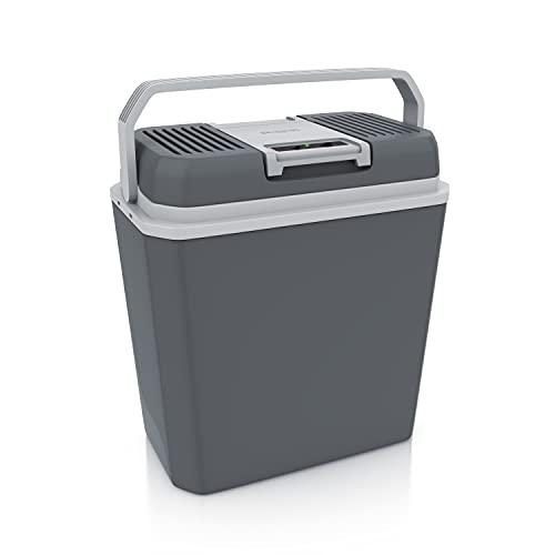 Brandson – NUOVO Frigo Portatile 12V e 220V AC/DC – raffredda e riscalda – 24 Litri – max. 50°C e - 18°C della temperatura esterna – modalità ECO – 43 x 40 x 25 cm – Cool Grey - OFFERTA LANCIO
