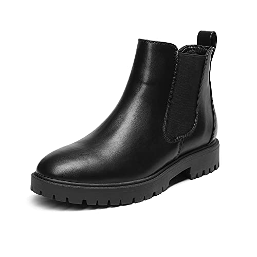 DREAM PAIRS Women's Black Boots Chelsea Ankle Booties Shoes, Size 8.5,DAB213