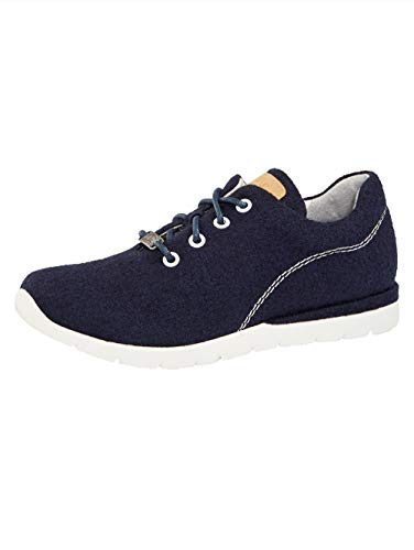 Jana Sneaker aus hochwertiger Merino-Wolle Marineblau