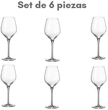 Bohemia Royal Crystal - Copas para Vino Tinto de 495 ml. / ft 17.42 OZ. Línea Avila. Set de 6 copas. (495 ml)