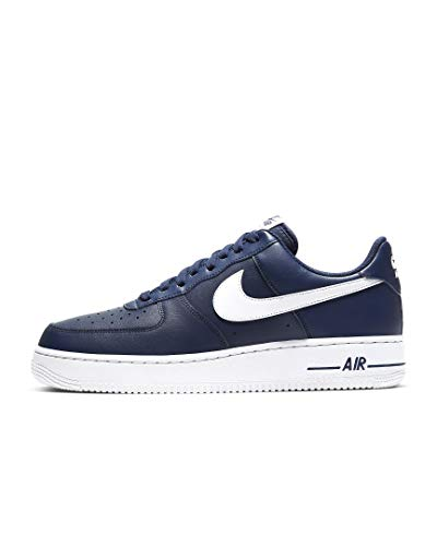 Nike Herren AIR Force 1 '07 AN20 Basketballschuh, Midnight Navy White, 46 EU