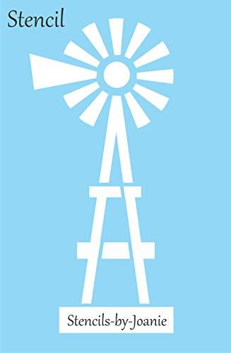 "Joanie Farmhouse Windmill Stencil Country Western Ranch Cow Art DIY Sign Many Sizes (11"" Tall)"