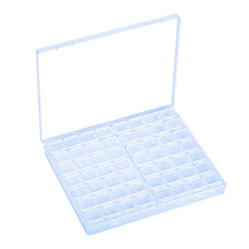 LAITER Diamond Painting Box Diamant Stickerei Sortierbox 56 Fächer Diamant Malerei Aufbewahrungsbox Für DIY Handwerk Werkzeug Bastelarbeiten Strasssteine Schmuck