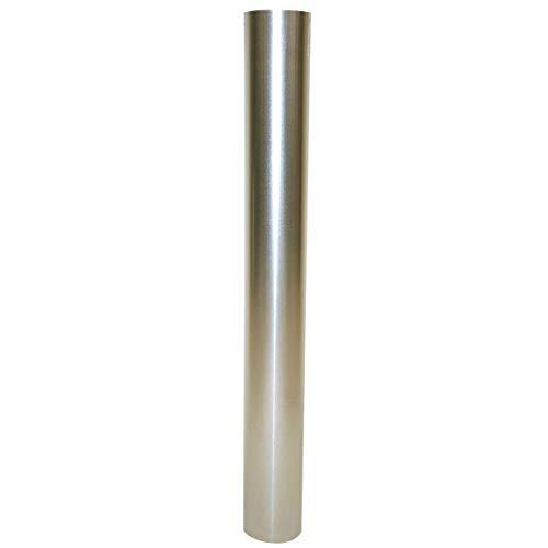 Kamino Flam Ofenrohr silber, feueraluminiertes Rauchrohr aus Stahl für sichere Ableitung von Verbrennungsgasen, rostfreies Kaminrohr, geprüft nach Norm EN 1856-2