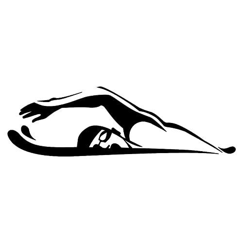 XLYDF Pegatinas de coche para natación, rocío y brazo, 18,7 cm x 5,7 cm (nombre del color: negro)