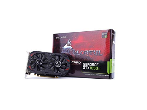 Colorful GeForce GTX 1050 Ti 4GB GDDR5 128 Bit Gaming Graphics Card ,PCI Express 3.0 16X,with Twin Cooling Fan