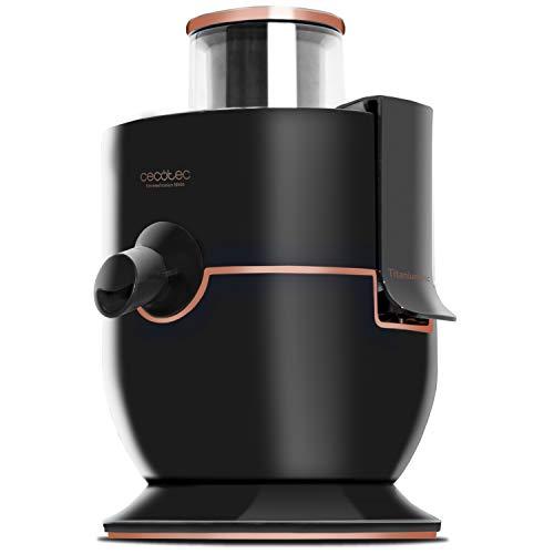 Cecotec Licuadora para Frutas y Verduras ExtremeTitanium 19000. 1000W, 19000 rpm de Velocidad, Recubrimiento de Titanio en el Disco, Canal de Entrada XL, 2 Velocidades, Color Negro
