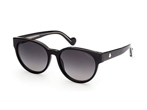 Moncler sonnenbrille ML0144 03B Schwarz rauch größe 56 mm Frau