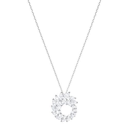 Swarovski Louison Anhänger für Frauen, weißes Kristall, rhodiniert