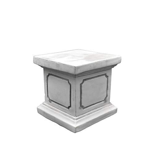 gartendekoparadies.de Massiver Stein Sockel Podest Säule quadratisch 20 x 20 cm für Statuen Figuren aus Steinguss frostfest
