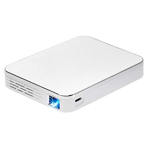 Mini proyector, proyector de película de 2000 lúmenes con pantalla de proyector de 100 pulgadas, compatible con TV Stick, videojuegos, HDMI, USB, TF, VGA, AUX, AV (color: blanco)