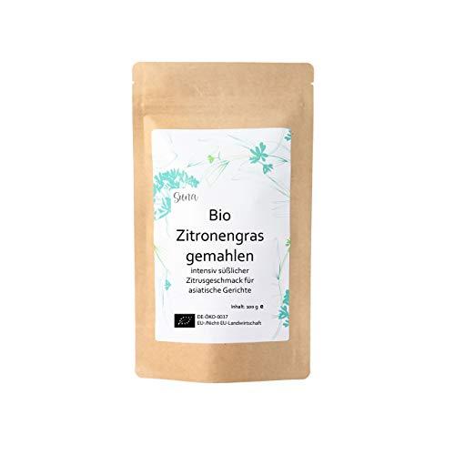 Suna® Bio Zitronengras gemahlen | intensiv süßlicher Zitrusgeschmack für asiatische Gerichte | Päckchen 100 g