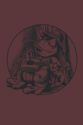Cigar Box Guitar Notizbuch: Cigar Box Gitarre Notizbuch | 6x9 Zoll DIN A5 | 120 Seiten Punktraster | Zigarrenkisten Gitarre Notizheft | Gitarre Tagebuch | Frosch Notebook | Frösche Journal
